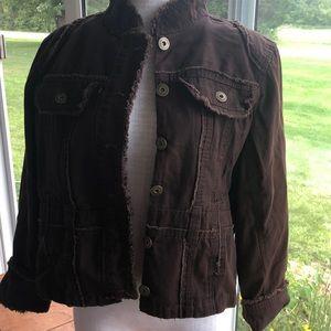 Miss Lili jacket 2X brown distressed seams
